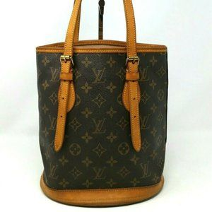 Authentic Louis Vuitton Bucket PM Small Tote Bag